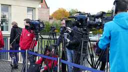 Broadcast television crews and journalists Footage
