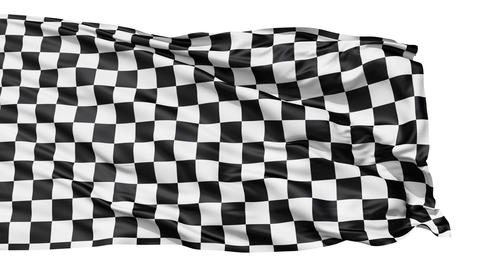 Realistic 3d seamless looping checkered flag waving in the wind Animation