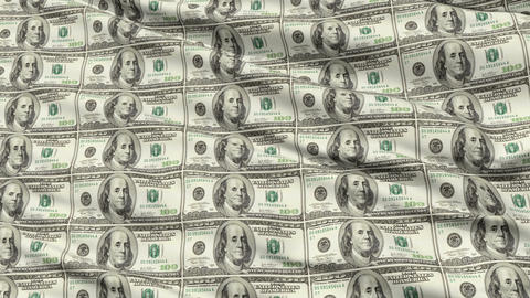 Crumpled Sheet Uncut American Dollar Banknotes Animation