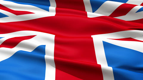 Realistic 3d seamless looping Great Britain(English) flag... Stock Video Footage