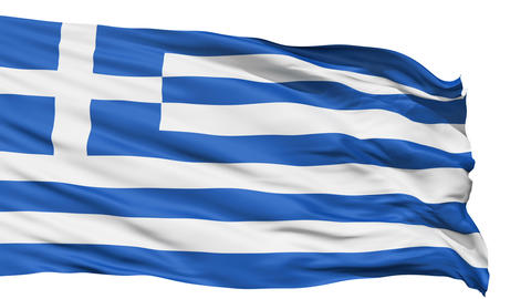 The Flag of Greece Stock Video Footage