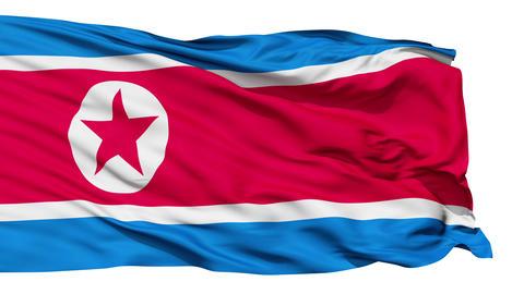 The North Korea Flag Animation