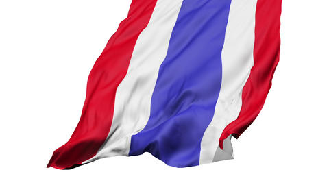 Realistic 3d seamless looping Thailand flag waving in the... Stock Video Footage