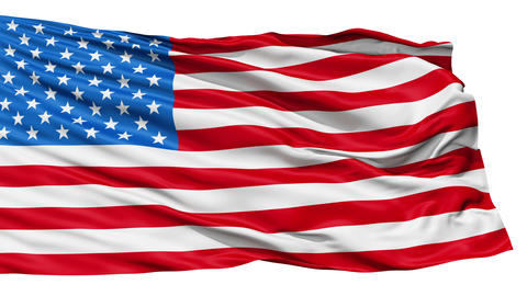 Realistic 3d seamless looping USA flag waving in the wind Stock Video Footage