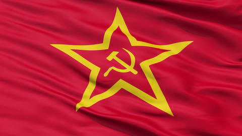 Realistic 3D detailed slow motion Soviet Union flag in... Stock Video Footage