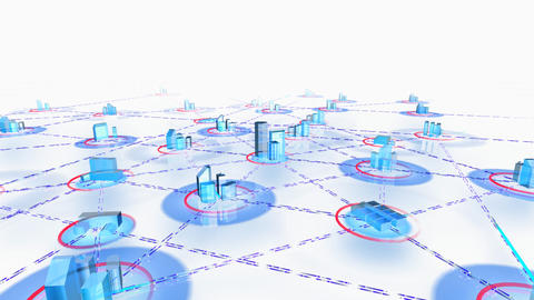 Network City 2aw HD Animation