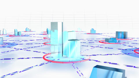 Network City 2cw HD Animation