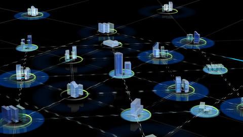 Net City 3b HD Stock Video Footage