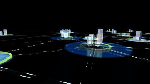 Net City 3f HD Stock Video Footage