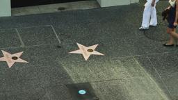 Hollywood Boulevard Pedestrians Stock Video Footage