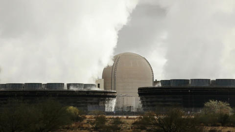 Nuclear Power Station Stock Video Footage