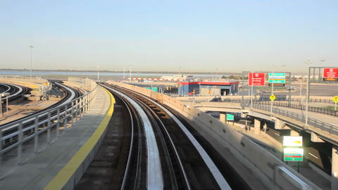 JFK Airtrain Stock Video Footage