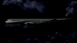 Airbus A330 03 night flight Stock Video Footage