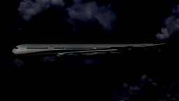Airbus A330 03 night flight Stock Video Footage