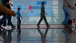 Beijing Airport Terminal China 03 Stock Video Footage