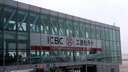 Beijing Airport Terminal China 05 boarding Stock Video Footage