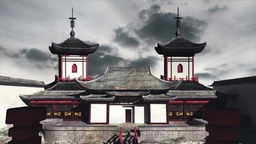 Chinese Building Clouds Timelapse 03 Animation