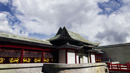 Chinese Building Clouds Timelapse 07 Stock Video Footage