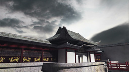 Chinese Building Clouds Timelapse 09 Stock Video Footage