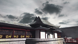 Chinese Building Clouds Timelapse 09 Animation