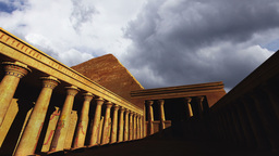 Egyptian Scene Clouds Timelapse 01 Stock Video Footage