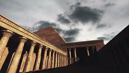 Egyptian Scene Clouds Timelapse 03 Animation