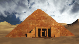 Egyptian Scene Clouds Timelapse 05 Stock Video Footage