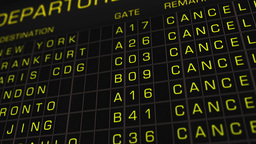 International Airport Timetable All Flights Cancelled 02 Stock Video Footage