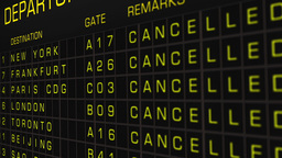 International Airport Timetable All Flights Cancelled 04 Animation