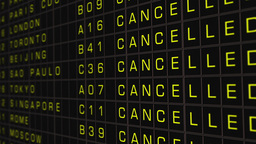 International Airport Timetable All Flights Cancelled 04 Stock Video Footage