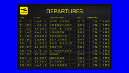 International Airport Timetable All Flights Cancelled... Stock Video Footage