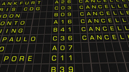 International Airport Timetable All Flights Get Cancelled 02 Stock Video Footage