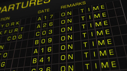 International Airport Timetable All Flights On Time 01 Stock Video Footage