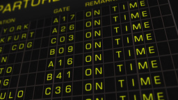 International Airport Timetable All Flights On Time 01 Animation