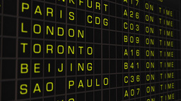 International Airport Timetable All Flights On Time 03 Stock Video Footage