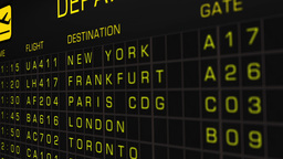 International Airport Timetable All Flights On Time 05 Animation