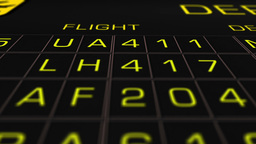 International Airport Timetable All Flights On Time 07 extreme closeup Animation