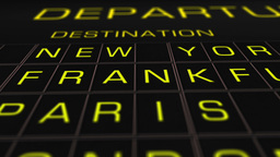 International Airport Timetable All Flights On Time 07... Stock Video Footage