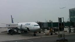 Lufthansa Flight Waiting at Beijing Airport 03 Stock Video Footage