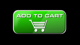 Online Shopping Add To Cart 02 green LOOP Stock Video Footage