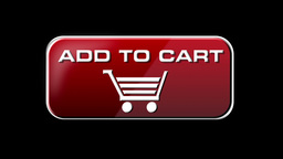 Online Shopping ADD TO CART 4 in 1 with matte LOOP Stock Video Footage