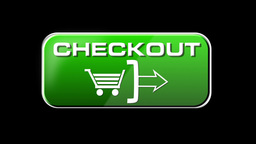 Online Shopping CHECKOUT 02 green LOOP Stock Video Footage