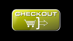 Online Shopping CHECKOUT 04 yellow LOOP Stock Video Footage