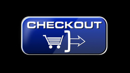 Online Shopping CHECKOUT 4 in 1 with matte LOOP Stock Video Footage