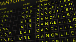 US Domestic Airport Timetable All Flights Cancelled 01 Animation