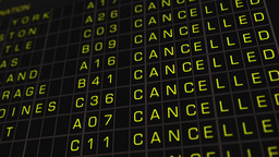 US Domestic Airport Timetable All Flights Cancelled 01 Stock Video Footage
