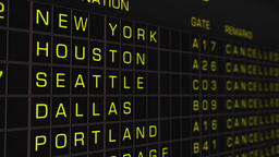 US Domestic Airport Timetable All Flights Cancelled 03 Animation