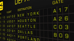 US Domestic Airport Timetable All Flights Cancelled 05 Animation