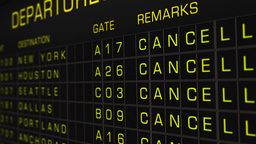 US Domestic Airport Timetable All Flights Cancelled 05 Stock Video Footage