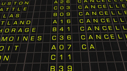 US Domestic Airport Timetable All Flights Get Cancelled 02 Stock Video Footage